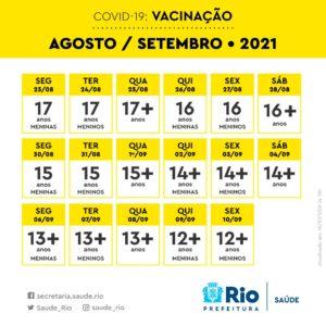 Imagem de um Calendário de vacinação