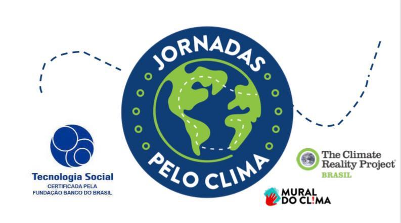 Na imagem, logo do Jornadas pelo Clima