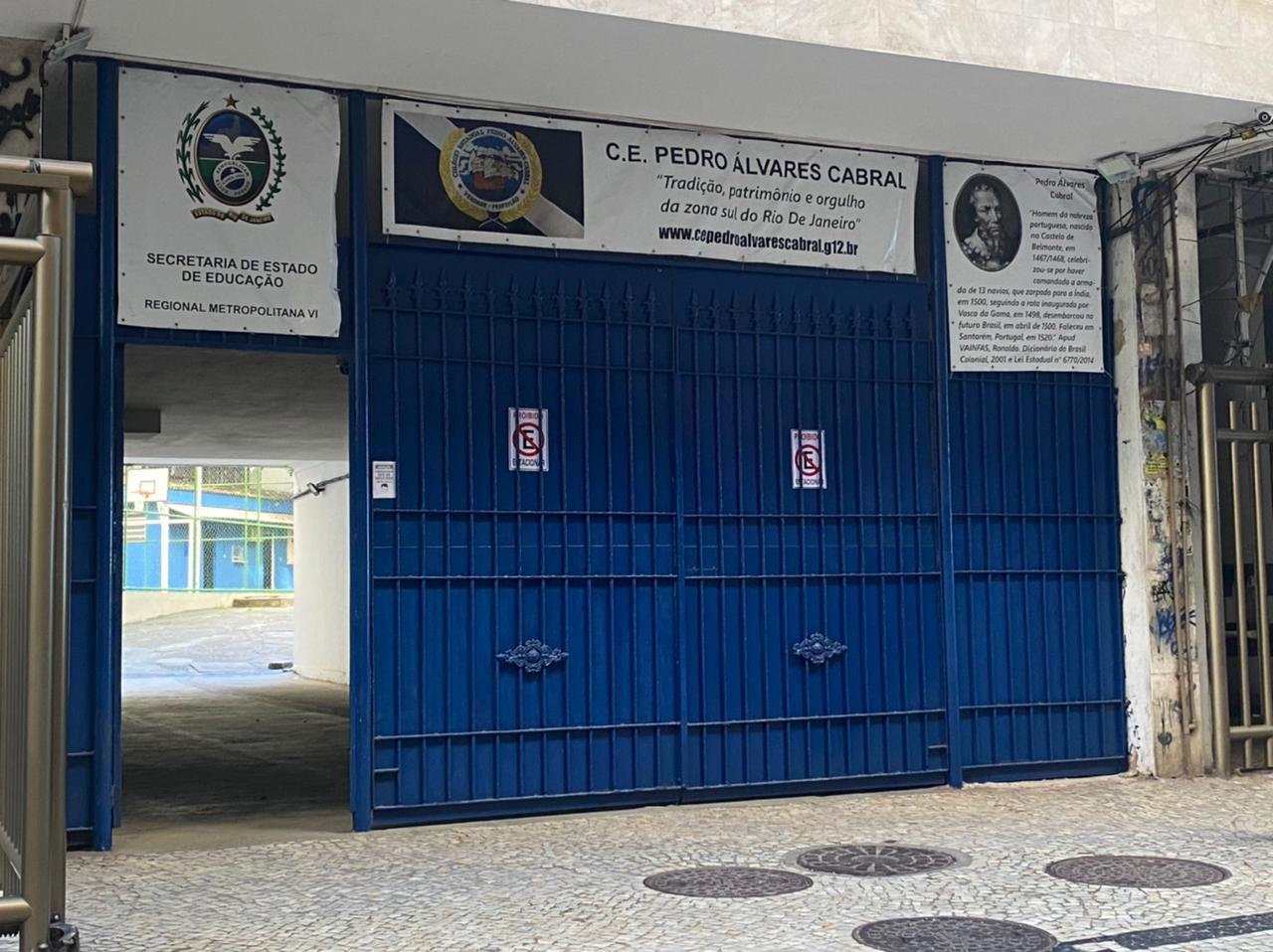 Na imagem, Colégio Estadual Pedro Álvares Cabral
