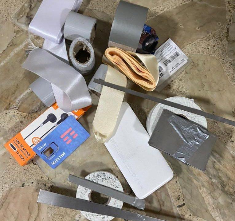Objetos utilizados pelos criminosos nos furtos