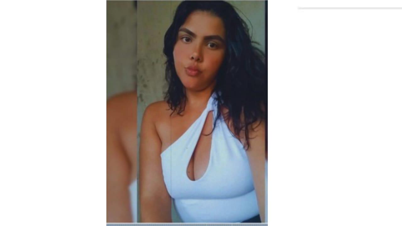 Na imagem, jovem Karine Marques