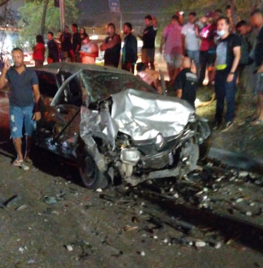 imagem de um acidente na Av.Brasil