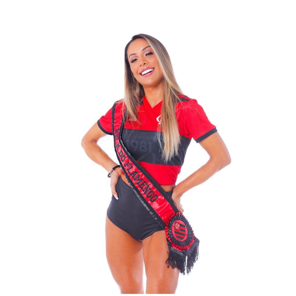 Na imagem, Musa do Flamengo Tatiane Barbieri