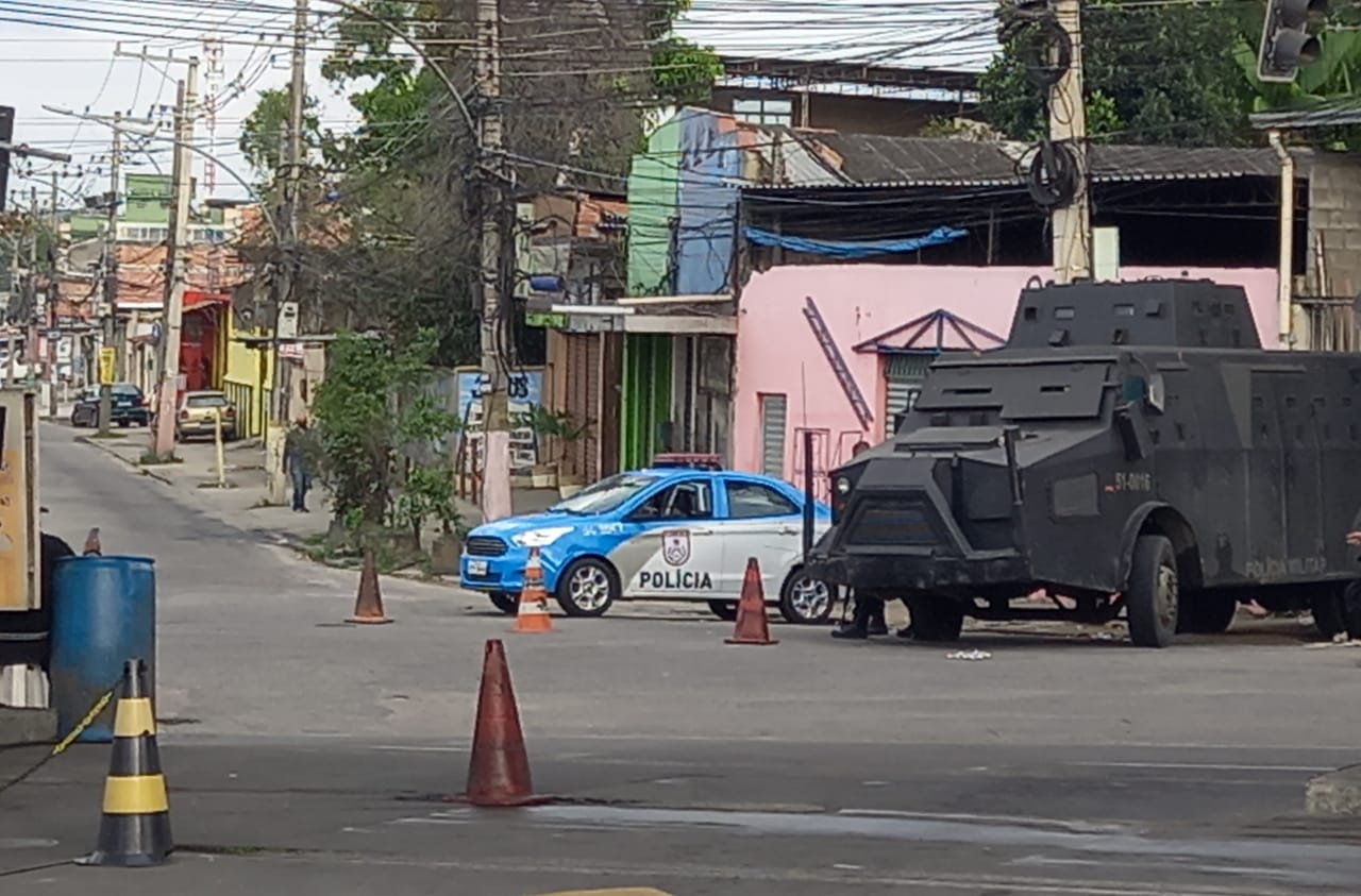 Na imagem, roubo de carga em Guadalupe