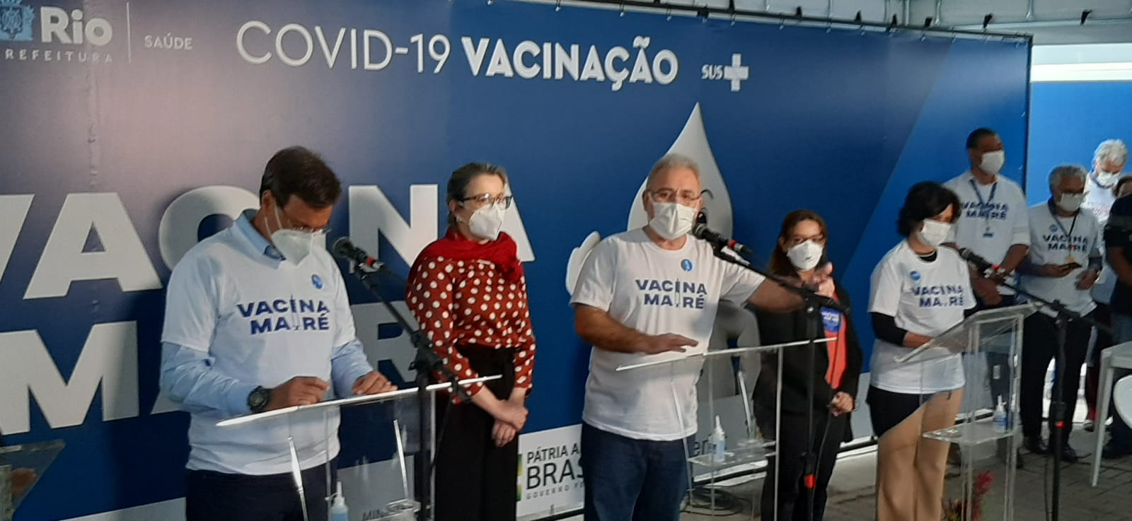 Marcelo Queiroga durante coletiva de imprensa na clínica da família Adib Jatene, no Complexo da Maré