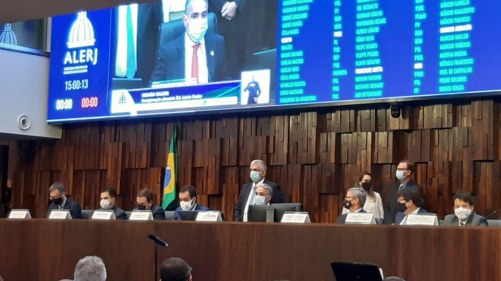 Imagens da inauguração do novo plenário da Alerj