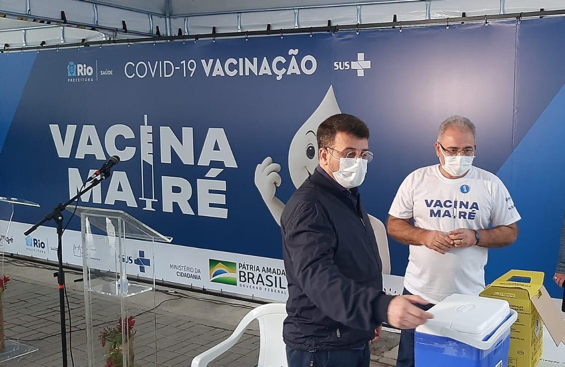 Daniel Soranz, secretário municipal de Saúde do Rio, ao lado do ministro Marcelo Queiroga