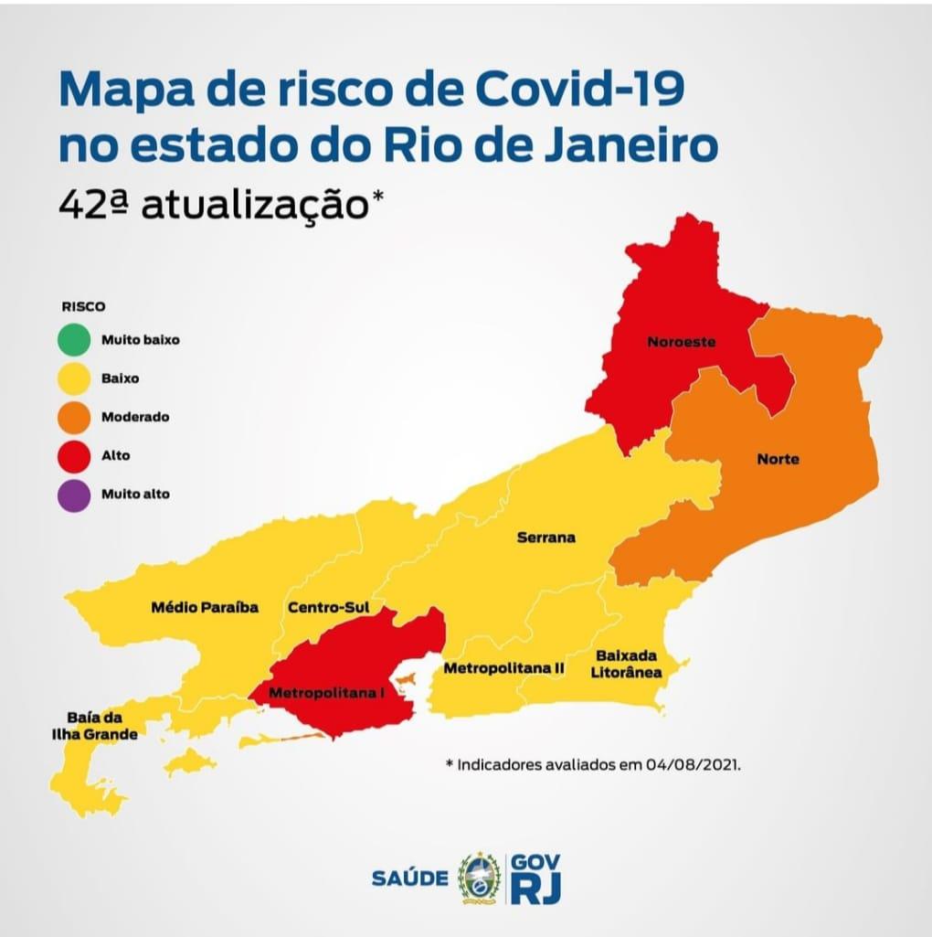 Mapa de risco Covid-19 mostra queda de 21% nos óbitos