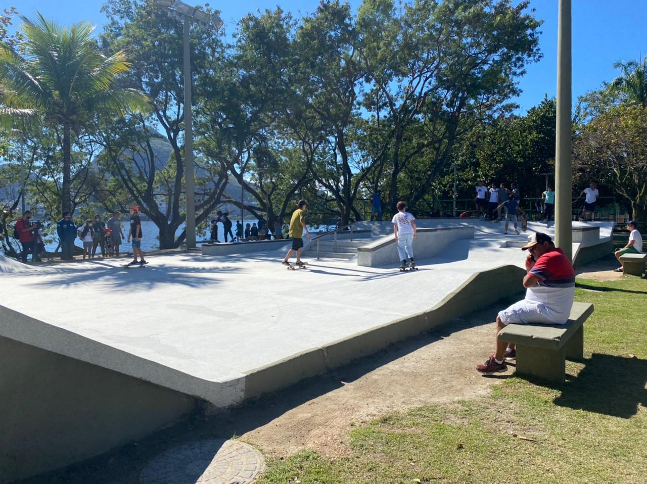 Prefeitura do Rio revitaliza pistas de skate na Lagoa