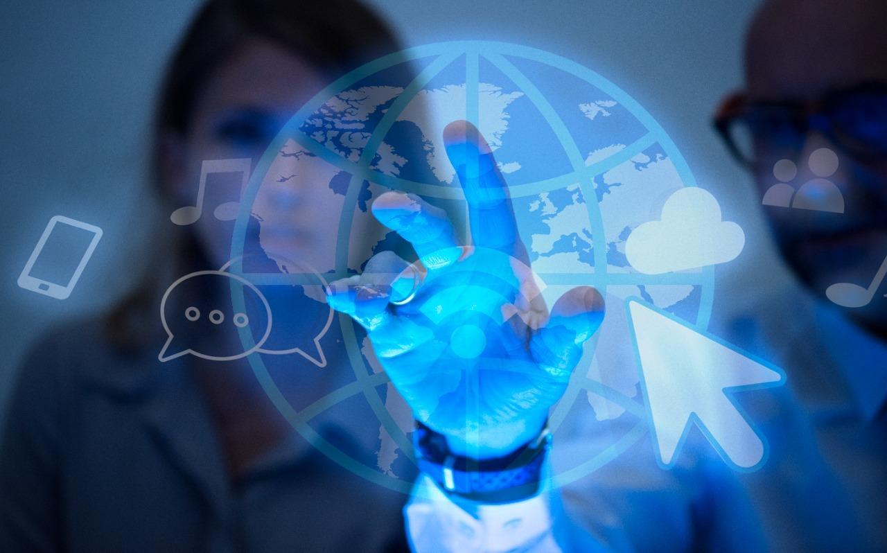 Na imagem, símbolo da era digital