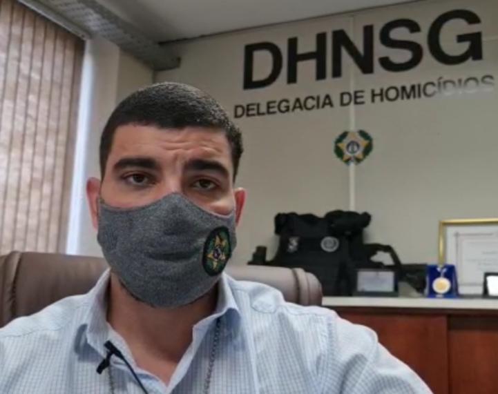 Delegado Bruno Cleuder, titular da Delegacia de Homicídios de Niterói e São Gonçalo