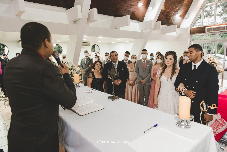 Na imagem, cerimônia de casamento