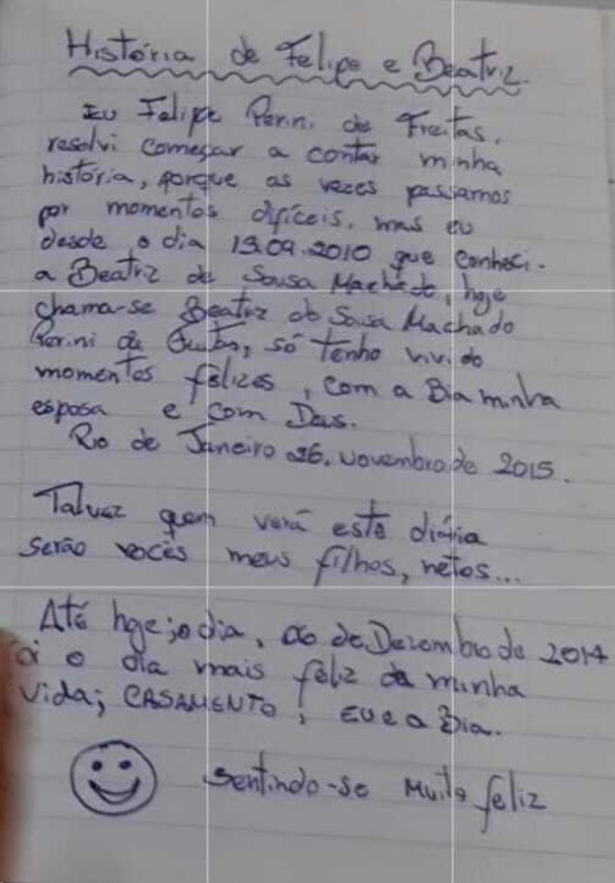 Caderno de anotações de policial militar