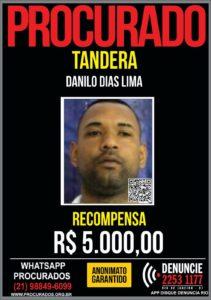 Tandera no cartaz dos procurados