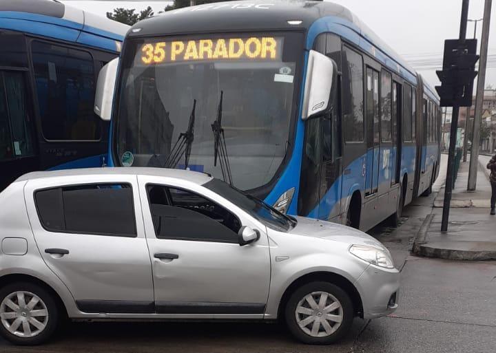 Imagem de um acidente com BRT
