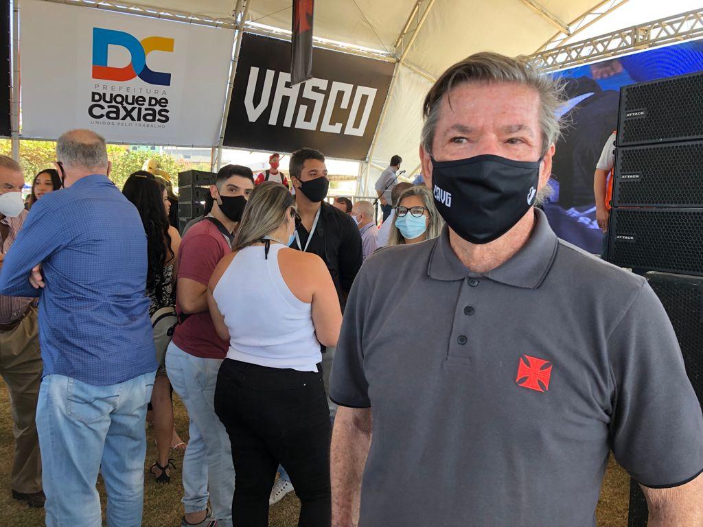 Presidente do Vasco, Jorge Salgado, participa de evento em Duque de Caxias