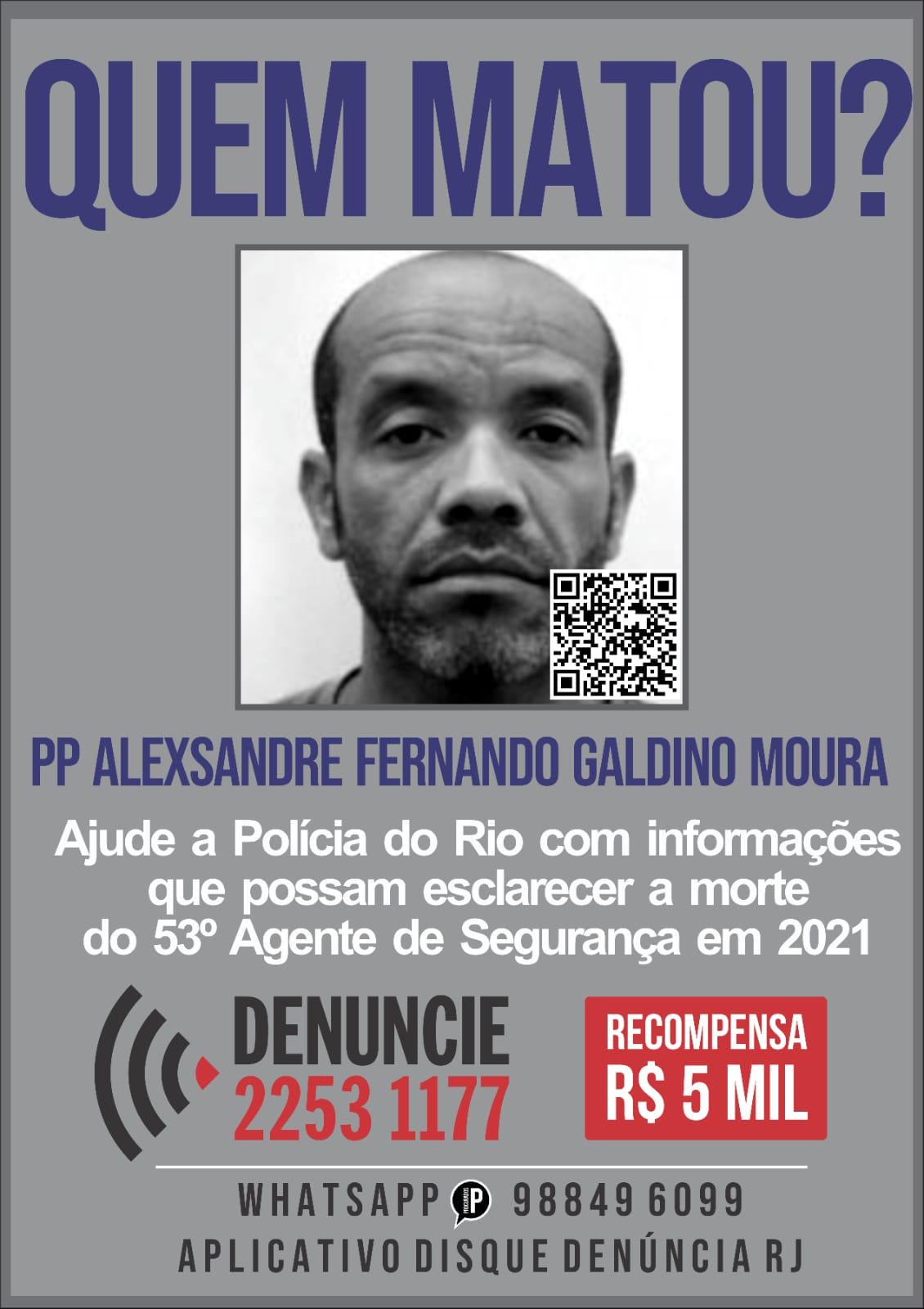 Portal dos Procurados divulga cartaz sobre morte de policial penal