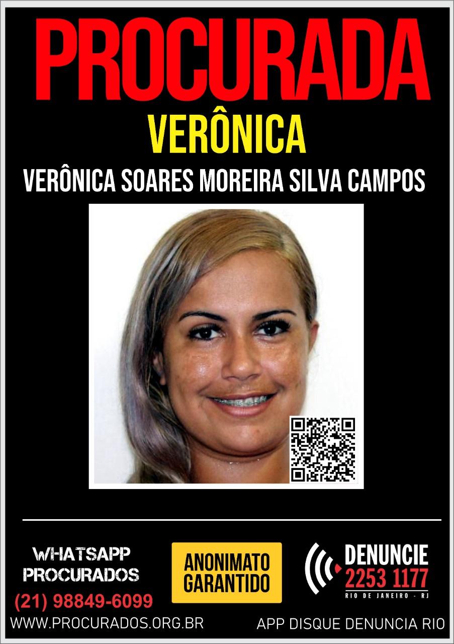 Cartaz do Portal dos Procurados pedindo por informações sobre mulher que pratica roubos em Niterói