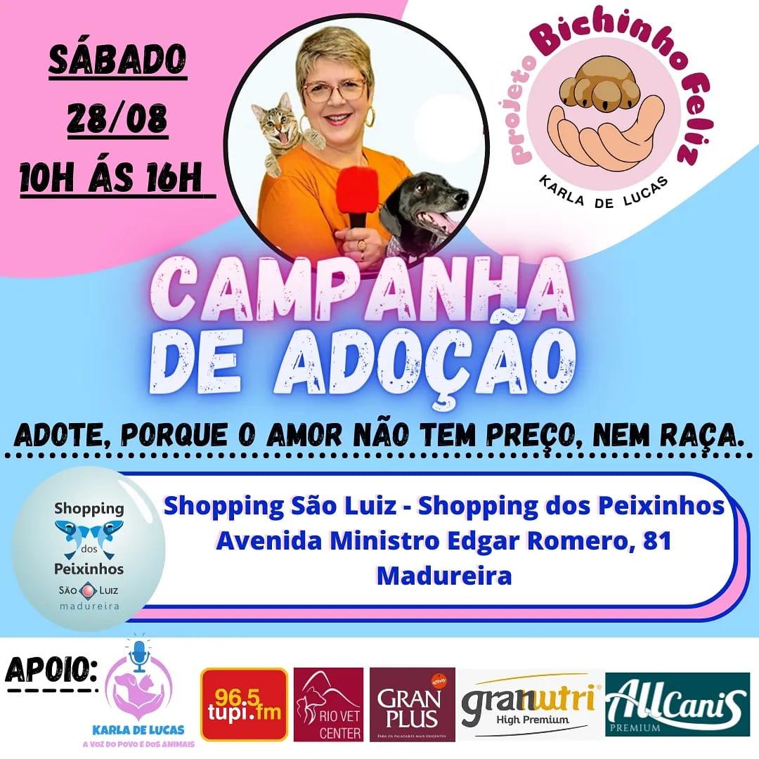 Campanha de adoção Karla de Lucas