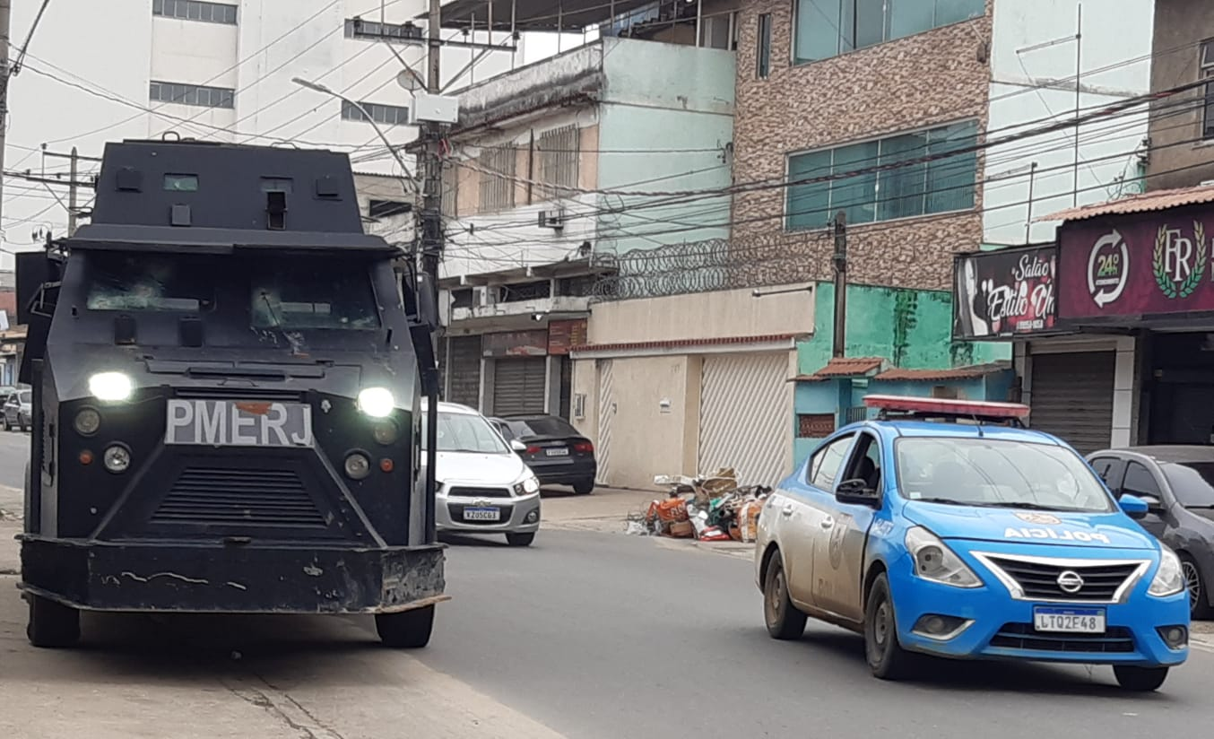 Polícia Militar arredores comunidade castellar