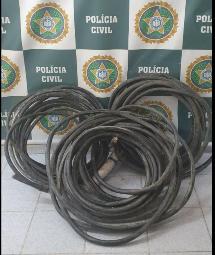 Imagem de cabos furtados