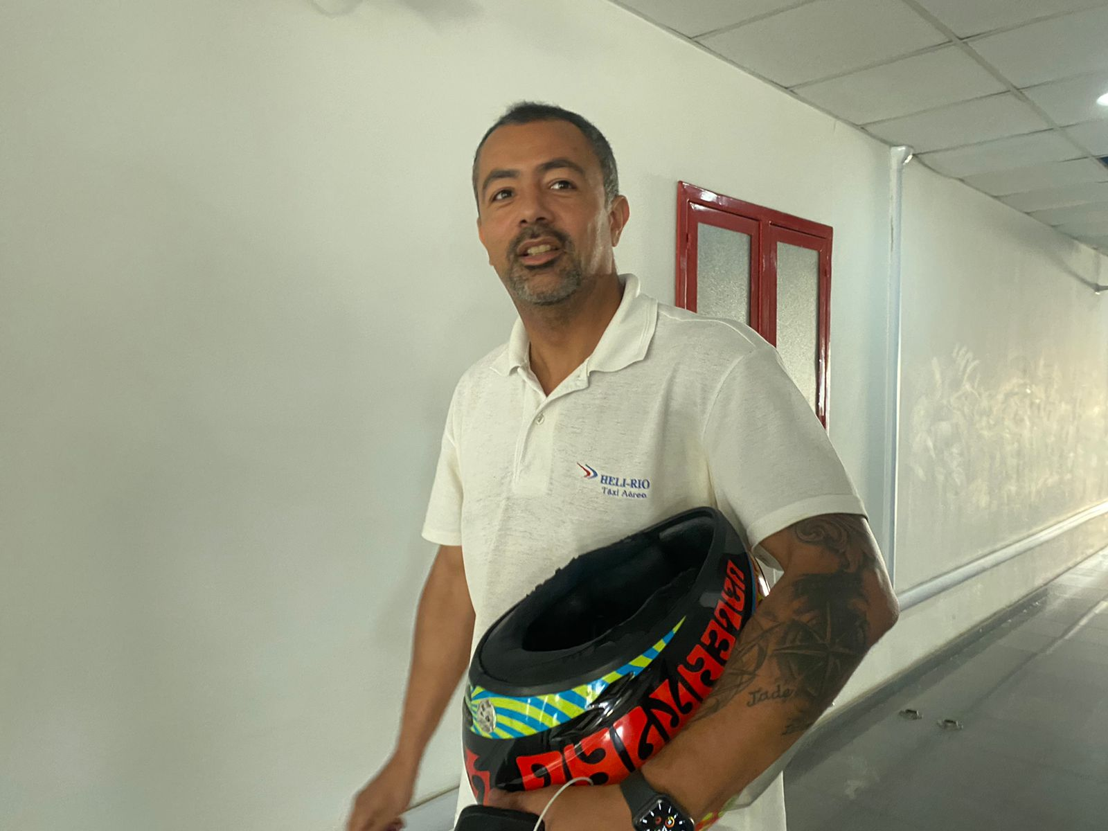 Piloto de helicóptero André Guerra