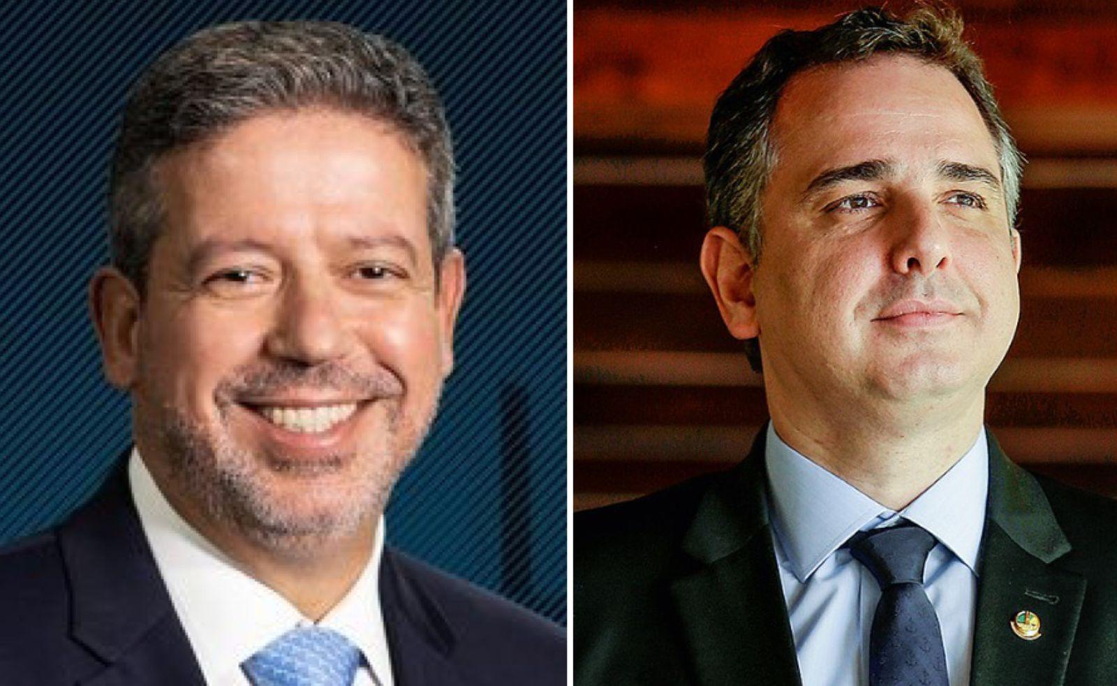 Arthur Lira, presidente da Câmara dos Deputados; e Rodrigo Pacheco, presidente do Senado