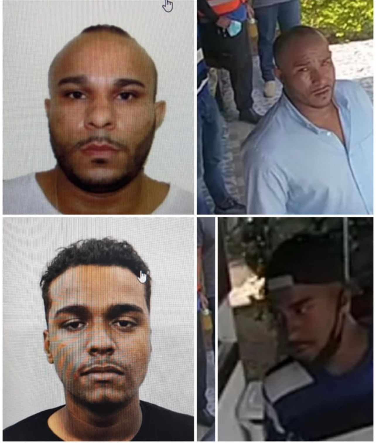 Imagem dos sequestradores do helicóptero