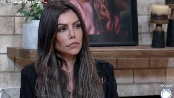 """Liziane Gutierrez durante eliminação de """"A Fazenda 13"""""""