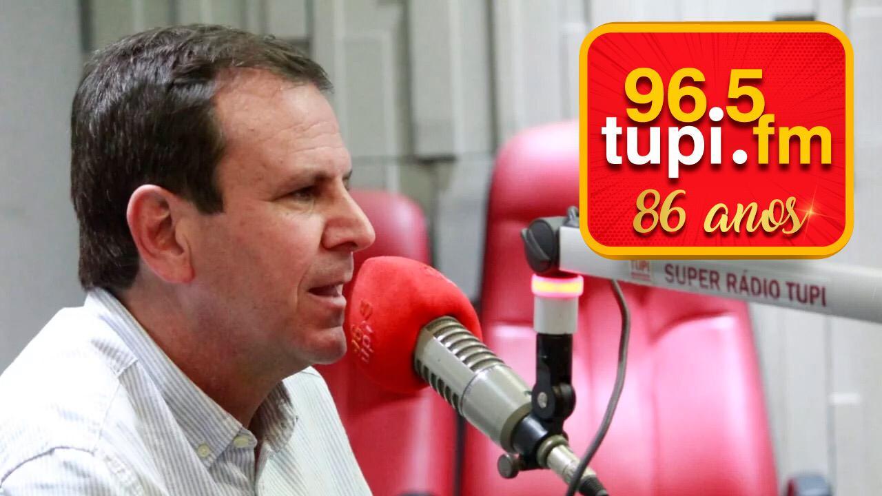 Prefeito do Rio Eduardo Paes aniversário Rádio Tupi FM