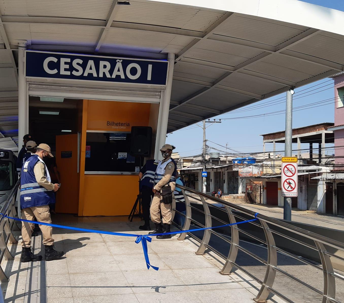 Estação de BRT reinaugurada