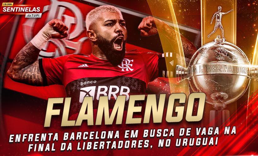 Flamengo busca vaga na final da Libertadores, hoje, contra o Barcelona de Guayaquil  Sentinelas da Tupi especial
