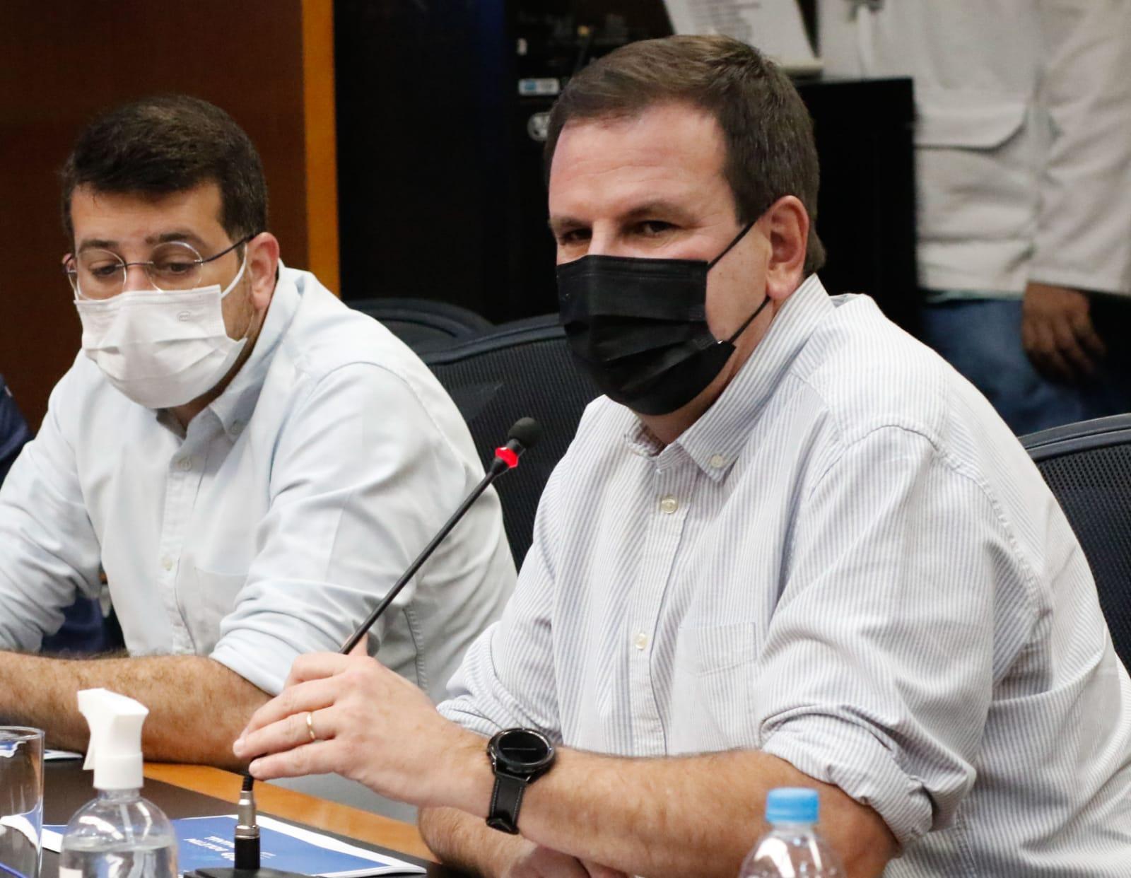 secretário municipal de Saúde Daniel Soranz e prefeito Eduardo Paes