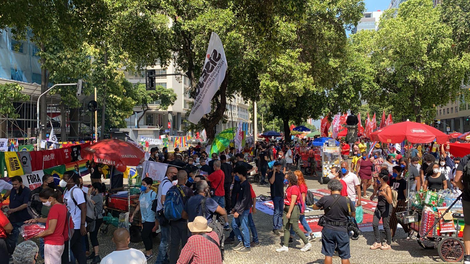 Manifestação contra o governo federal no Centro do Rio