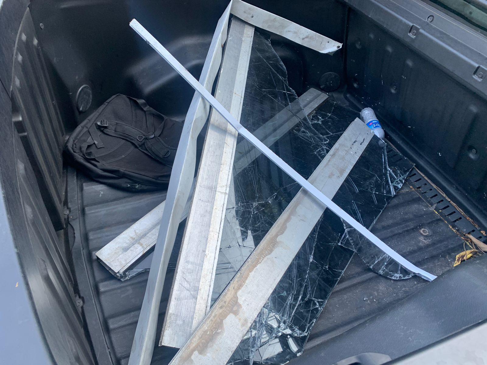 Imagem de peças furtadas do BRT