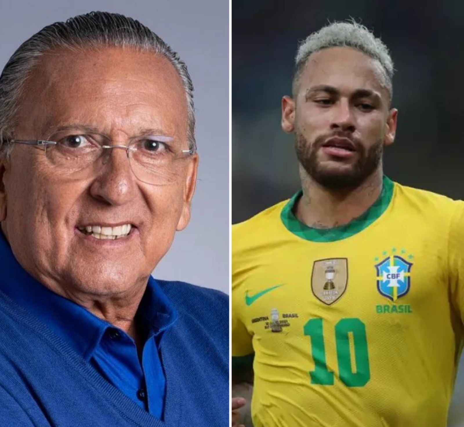 Galvão Bueno chama Neymar de idiota
