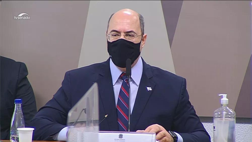 Ex-governador do Rio, Wilson Witzel depõe na CPI da Covid