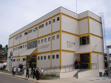 Imagem da fachada da delegacia de São João de Meriti