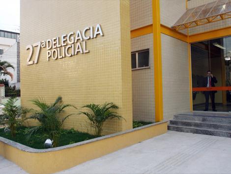 Imagem da fachada da delegacia de Vicente de Carvalho