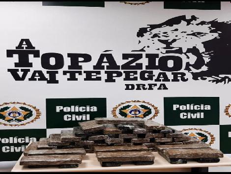 imagem de drogas que foram apreendidas pela Polícia Civil