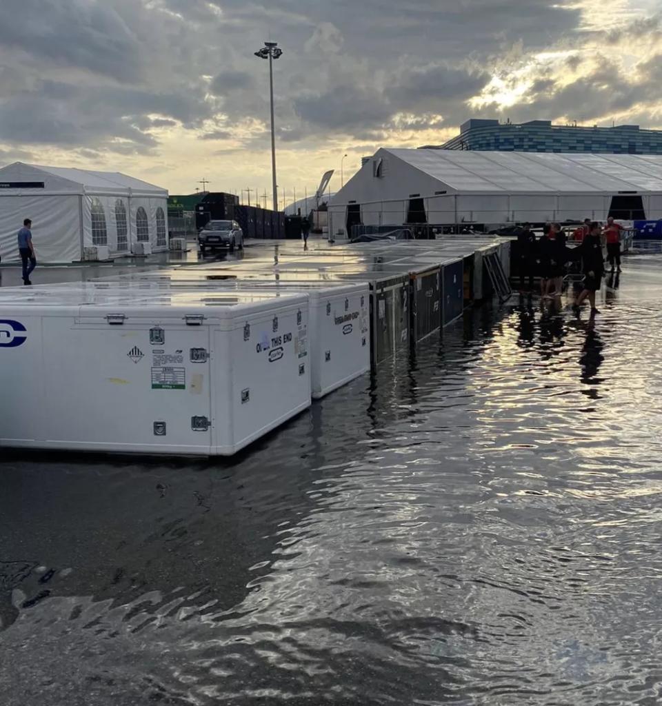 GP de Sochi amanhece alagado após fortes chuvas na Rússia