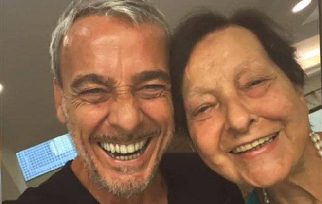 Alexandre Borges e mãe