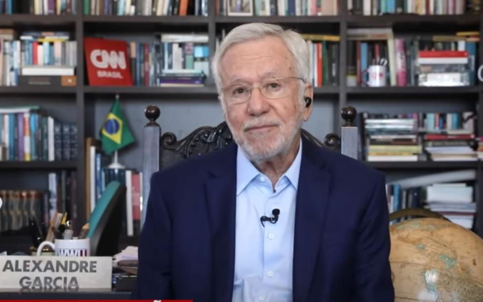 Alexandre Garcia no quadro Liberdade de Opinião, da CNN Brasil