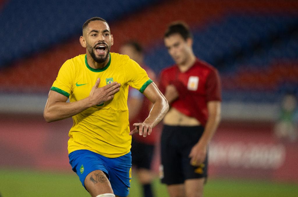 Matheus Cunha fez o primeiro gol brasileiro