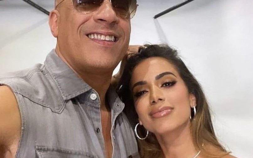 Anitta e o ator Vin Diesel