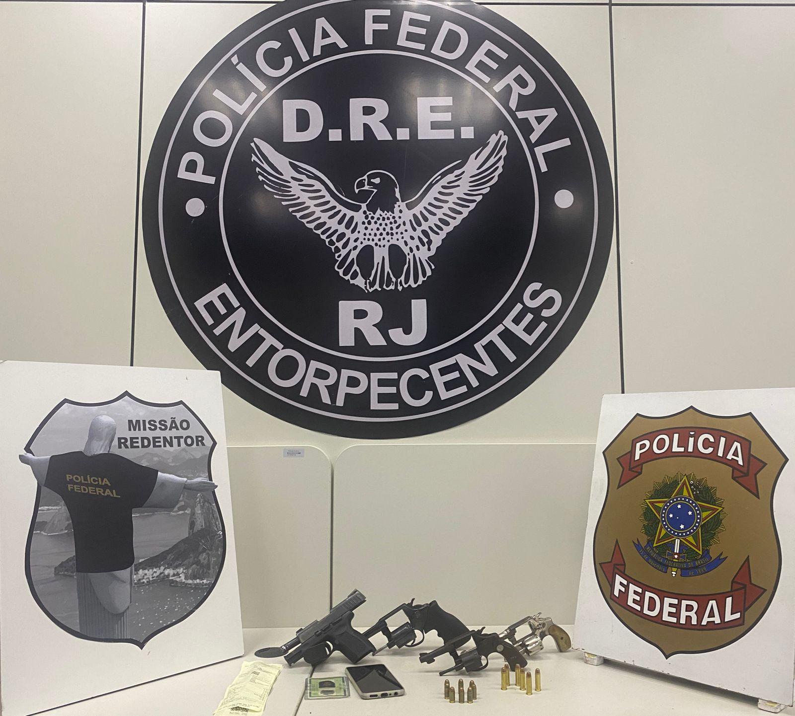 armas apreendidas pela Polícia Federal