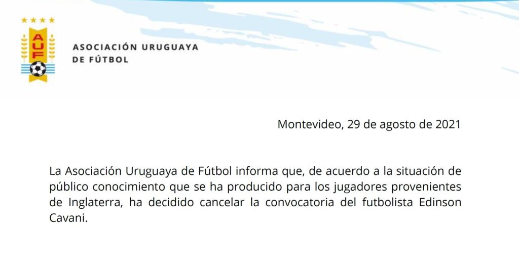 Uruguai perde três jogadores para os jogos das Eliminatórias
