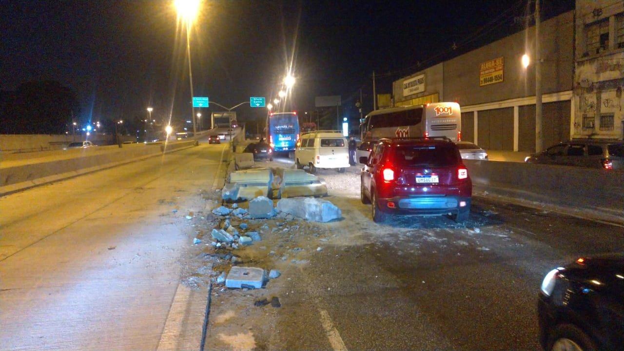 Acidente na Avenida Brasil provoca congestionamento no sentido Centro (Divulgação: COR)