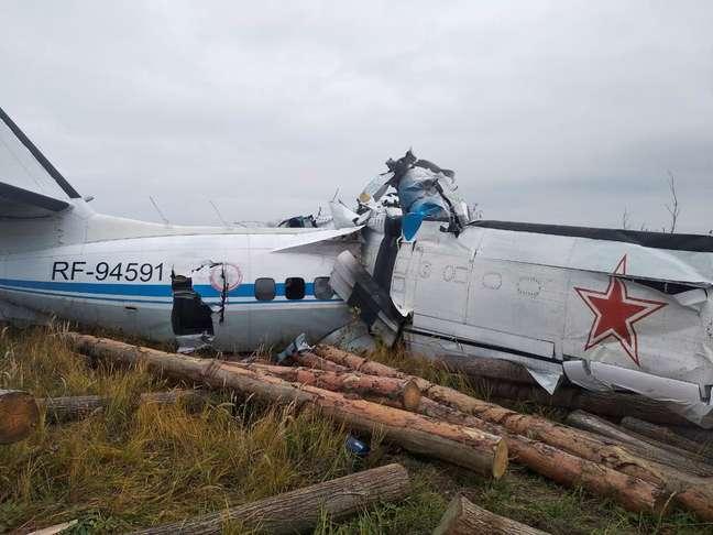 avião russia queda