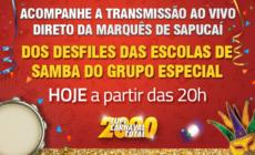 Ao vivo: Desfile das Escolas de Samba do Rio de Janeiro - Grupo Especial